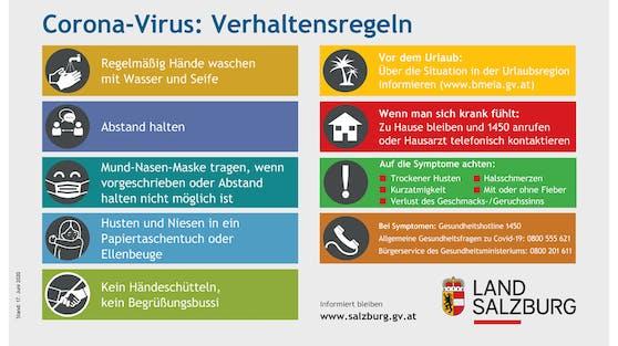 Coronavirus-Verhaltensregeln des Landes Salzburg