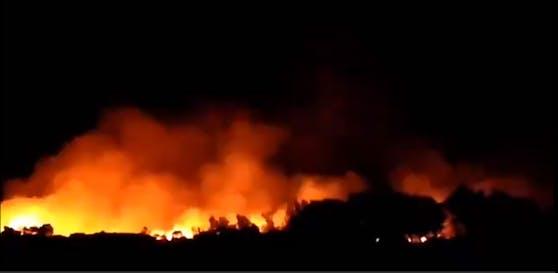 Feuer auf der griechischen Insel Samos