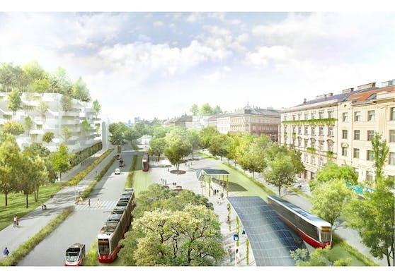 So grün soll Wien nach Plänen der Wiener Linien sein: Parkplätze machen Platz für Parkbänke und besserer Klimaschutz durch den Umstieg auf die Öffis.