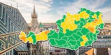 Neue Corona-Ampel färbt Österreich orange-gelb