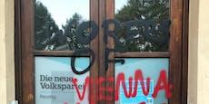 """ÖVP-Lokal von """"Worers"""" mit Hammer und Sichel beschmiert"""