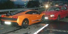 Fahrer schrottet Lamborghini bei Crash mit Golf