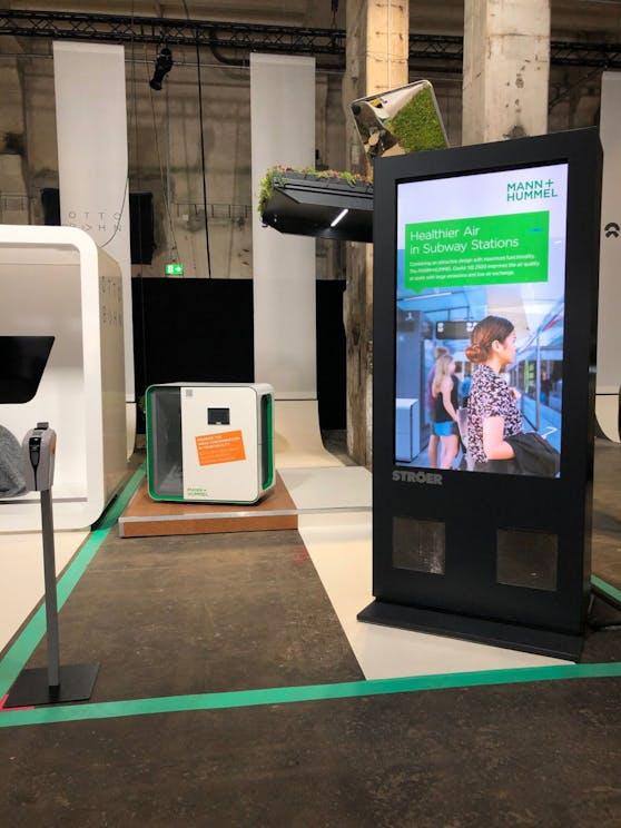 Mann+Hummel plant filtrierende Werbeträger und Bushaltestellen mit integrierter Feinstaubfiltertechnologie.