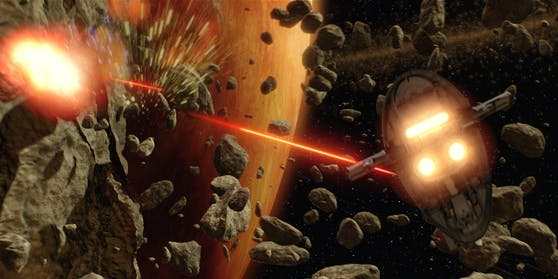 """Eine Szene aus """"Star Wars: Episode 2"""": Ob die Asteroiden-Abwehr der ESA ähnlich funktioniert?"""