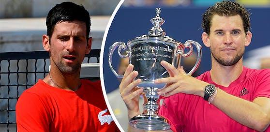 Novak Djokovic adelt Österreichs Tennis-Star Dominic Thiem.