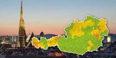 Die aktuelle Corona-Ampel-Karte für Österreich
