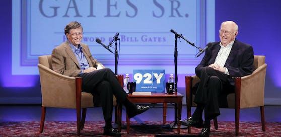 Bill Gates mit seinem Vater.