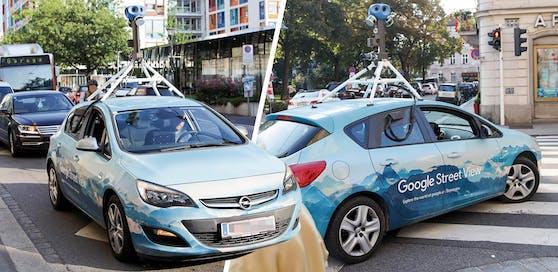 Das Google Street View Auto wurde Mittwochvormittag gesichtet.