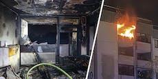 E-Scooter explodiert: Wohnung brannte völlig aus