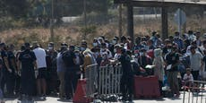 Jetzt räumt Polizei abgebranntes Flüchtlingslager Moria
