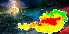 Neue Unwetter-Warnung Rot in 5 Bundesländern