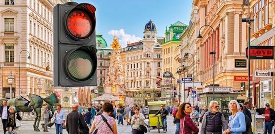 Die Corona-Ampel müsste für die Hauptstadt Wien auf Rot umgeschalten werden.