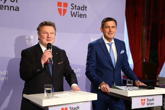 Wiens Bürgermeister Michael Ludwig (li.) und Wirtschaftsstadtrat Peter Hanke (beide SPÖ)