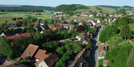 Blick über Flaach im Zürcher Weinland