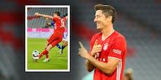 Lewandowski zaubert! Rabona-Vorlage bei 8:0-Gala