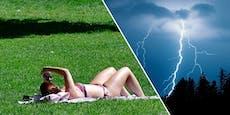 Gewitter verjagen Sommer in Österreich nun endgültig