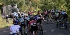 LKW auf der Strecke sorgt für Massencrash bei Radrennen
