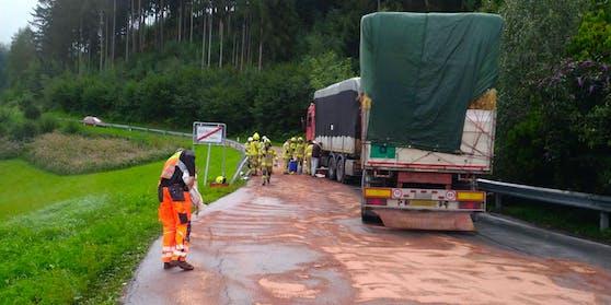 Die Straße musste für rund drei Stunden gesperrt werden.