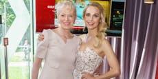 Silvia Schneider dampfte mit Mama zu Medientermin an