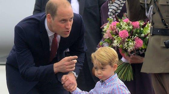 Prinz William mit Sohn George