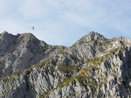An dieser Stelle wurde der tote Bergsteiger gefunden.