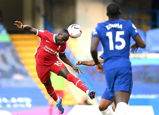 Mane trifft beim 2:0 gegen Chelsea per Kopf zum 1:0