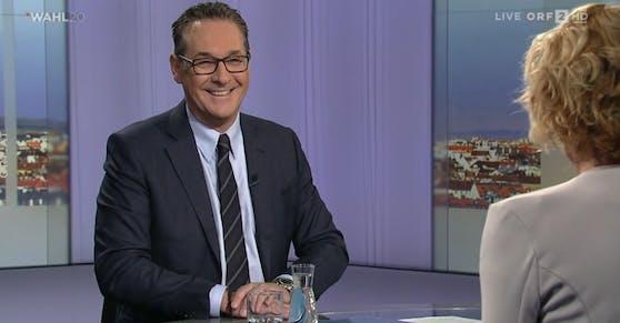 HC Strache in der ORF-Pressestunde