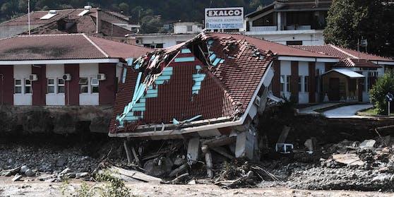 Wirbelsturm Ianos hinterlässt in Griechenland eine Spur der Verwüstung.