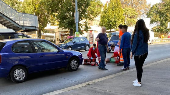 Am Liesinger Platz in Wien kam es zu einem Verkehrsunfall.