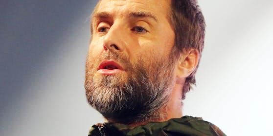 Liam Gallagher bei seinem Auftritt in Stockholm im Februar.