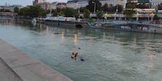 Von wegen Badeschluss! Wiener schwimmen im Donaukanal