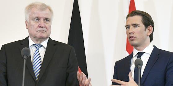 Deutschlands Innenminister Seehofer ist mit Kurz' Asylpolitik nicht einverstanden
