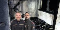 Diese Polizisten retten Mann aus brennendem Hotelzimmer