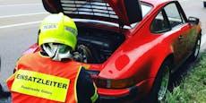 Porsche-Legende brannte auf der Autobahn