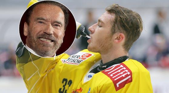 Arnold Schwarzenegger, Caps-Goalietalent Sebastian Wraneschitz