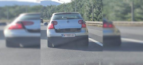 Gefährliche Aktion mitten auf der Autobahn