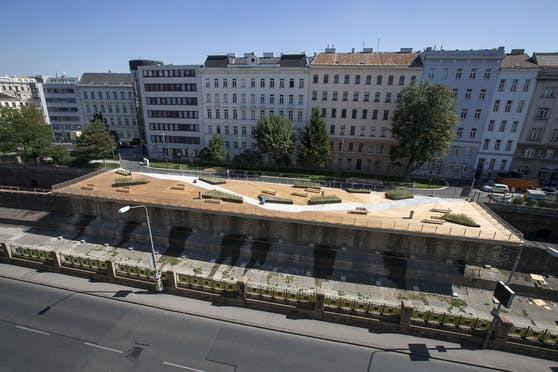 Die Wientalterrasse wurde im September 2015 eröffnet.