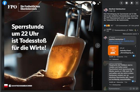 Haimbuchner befürchtet einen Todesstoß für die Wirte, das Bier dazu kommt aus Serbien.