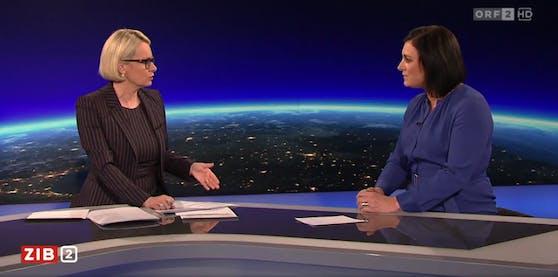 """Tourismusministerin Elisabeth Köstinger in der """"ZIB 2"""""""