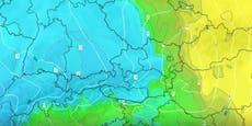 Video zeigt, wie Kälte-Keule nach Österreich zieht