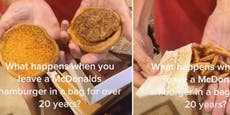 Frau hebt Maci-Burger 24 Jahre auf – so sieht er aus