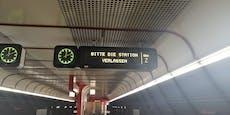 U-Bahn-Chaos in Wien, vier Linien außer Betrieb