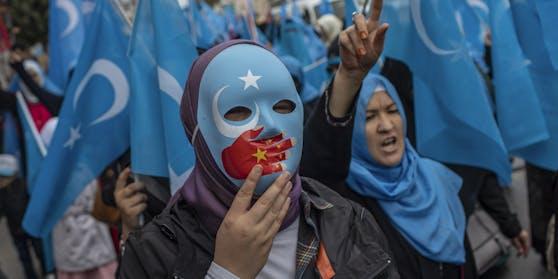 Proteste vertriebener Uiguren 2018 in der Türkei