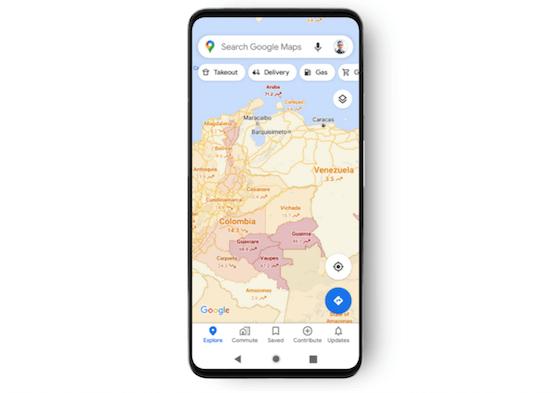 Google Maps bietet künftig einen Filter an, der anzeigt, wie stark eine bestimmte Region von Covid-19 betroffen ist.