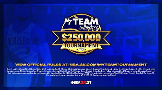 Das NBA 2K21 MyTEAM Unlimited $250,000 USD Tournament startet jetzt.