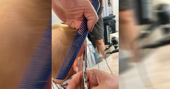 Mit viel Übung klappt der erste Friseurbesuch ganz ohne Probleme.