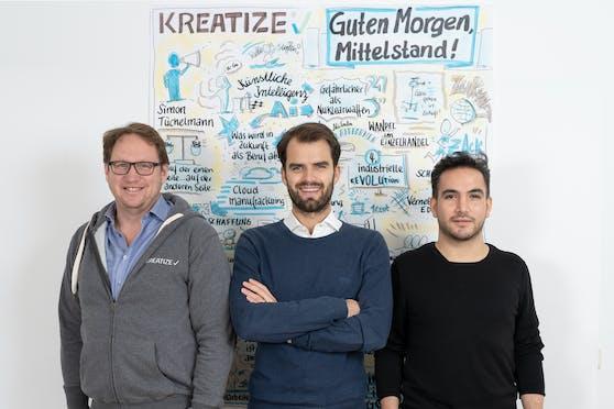 Thomas Hoffmeister (CCO), Simon Tüchelmann (CEO), Daniel A. Garcia Rodriguez (CTO).