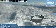 Unglaubliche Fotos: Berge in OÖ tief verschneit