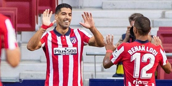 Luis Suarez im (noch) ungewohnten Atletico-Trikot