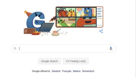 Das Google Doodle am Sonntag.